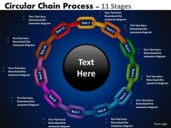 Business Diagram Circular Chain Flowchart Process Diagram 11 Stages Sales Diagram