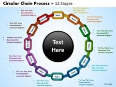 Business Diagram Circular Chain Flowchart Process Diagram 12 Stages Sales Diagram