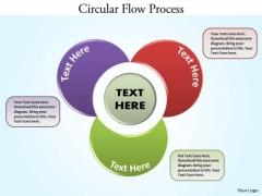 Business Diagram Circular Flow Process Business Cycle Diagram