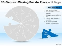 Business Diagram Circular Missing Puzzle Piece 11 Stages Mba Models And Frameworks