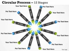 Business Diagram Circular Process 12 Stages Marketing Diagram