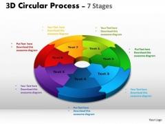 Business Diagram Circular Process Cycle Diagram Chart 7 Stages Sales Diagram