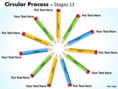 Business Diagram Circular Process Stages 11 Marketing Diagram