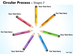 Business Diagram Circular Process Stages Sales Diagram