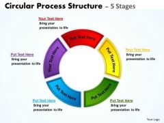 Business Diagram Circular Process Structure 5 Stages Marketing Diagram