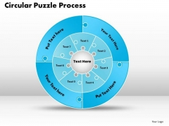 Business Diagram Circular Puzzle Flowchart Process Diagram Strategic Management