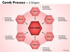 Business Diagram Comb Process 6 Stages Sales Diagram