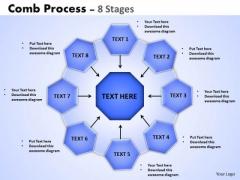 Business Diagram Comb Process 8 Stages Sales Diagram