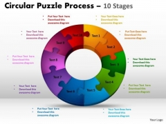 Business Diagram Components Circular Puzzle Process Business Framework Model