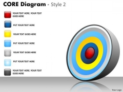 Business Diagram Core Process 6 Staged Mba Models And Frameworks