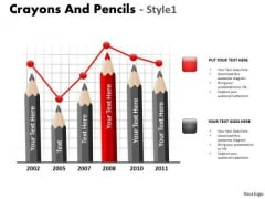 Business Diagram Crayons And Pencils Style 1 Business Cycle Diagram