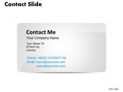 Business Diagram Designing A Contact Card Marketing Diagram