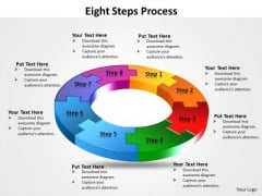 Business Diagram Eight Flow Diagram Steps Process Sales Diagram