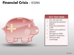 Business Diagram Financial Crisis Icons Marketing Diagram