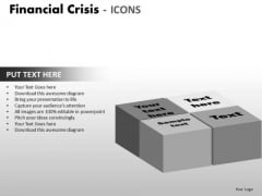 Business Diagram Financial Crisis Icons Strategic Management