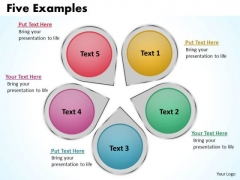 Business Diagram Five Examples Sales Diagram