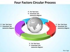 Business Diagram Four Factors Circular Process PowerPoint Slides Templates Sales Diagram