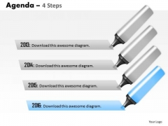 Business Diagram Four Staged Agenda Strategy Diagram
