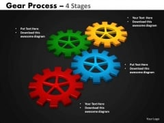 Business Diagram Gears Process 4 Stages Style Sales Diagram