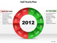 Business Diagram Half Yearly Plan Marketing Diagram