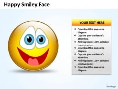Business Diagram Happy Smiley Face Marketing Diagram