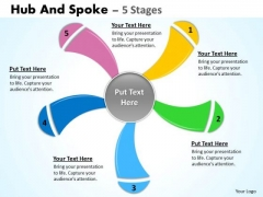 Business Diagram Hub And Spoke 5 Stages Marketing Diagram