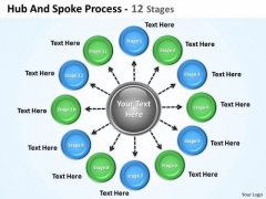 Business Diagram Hub And Spoke Process 12 Stages Consulting Diagram
