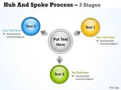 Business Diagram Hub And Spoke Process 3 Stages Sales Diagram