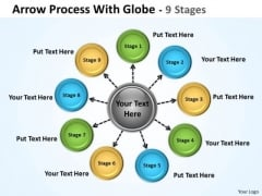 Business Diagram Hub And Spoke Process 9 Stages Sales Diagram