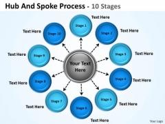 Business Diagram Hub And Spoke Process Sales Diagram