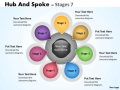 Business Diagram Hub And Spoke Stages Consulting Diagram