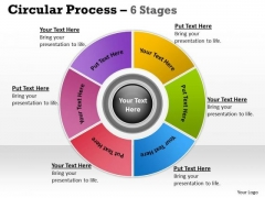 Business Diagram Illustration Of Circular Looped Process 6 Stages Sales Diagram