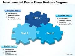 Business Diagram Interconnected Puzzle Pieces Business Diagram Sales Diagram