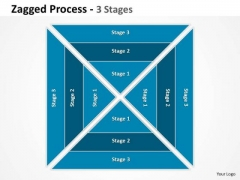 Business Diagram Jagged Process 3 Stages 3 Business Cycle Diagram