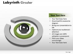 Business Diagram Labyrinth Circular Business Framework Model