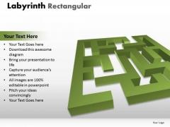 Business Diagram Labyrinth Rectangular Consulting Diagram