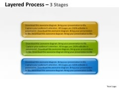 Business Diagram Layered Process 3 Stages Business Framework Model