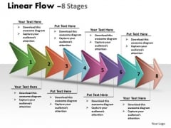 Business Diagram Linear Arrow Process 8 Stages Sales Diagram