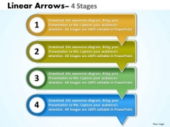 Business Diagram Linear Arrows 4 Stages Consulting Diagram