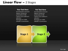 Business Diagram Linear Flow 2 Stages Ppt