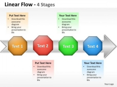 Business Diagram Linear Flow 4 Stage Business Cycle Diagram