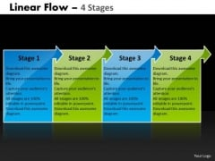 Business Diagram Linear Flow 4 Stages Mba Models And Frameworks