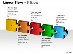 Business Diagram Linear Flow 5 Stages Marketing Diagram
