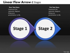 Business Diagram Linear Flow Arrow 2