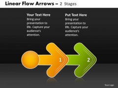 Business Diagram Linear Flow Arrow 2 Stages