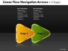 Business Diagram Linear Flow Navigation Arrow 2 Stages
