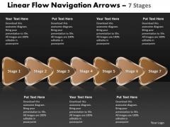 Business Diagram Linear Flow Navigation Arrow 7 Stages Sales Diagram