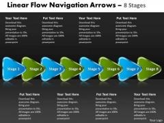 Business Diagram Linear Flow Navigation Arrow 8 Stages Sales Diagram