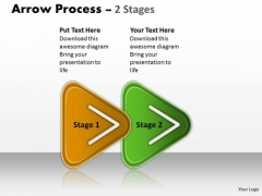 Business Diagram Linear Process 2 Stages