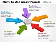 Business Diagram Many To One Arrow Process 5 Stages Strategy Diagram